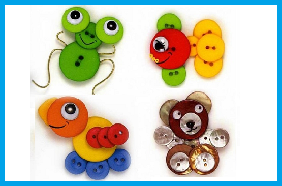 Easy Arts And Crafts With Buttons