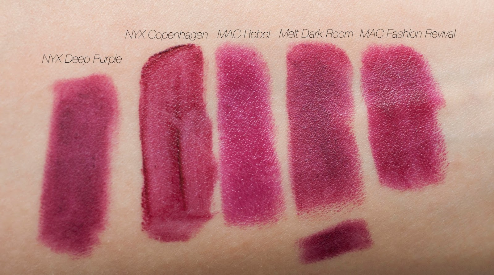 Lipstick Swatch & Review: Melt Cosmetics Dark Room + a ...