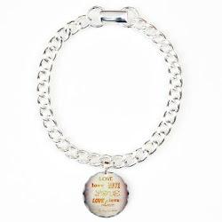 LOVE X 7 Charm Bracelet, One Charm
