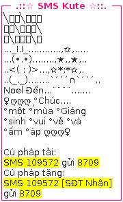 SMS chuc mung noel 1
