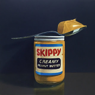 skippy peanut butter original oil painting