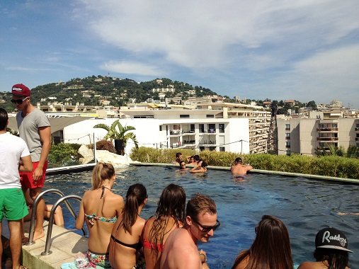 The 3.14 Hotel Cannes Rooftop Pool and terrace
