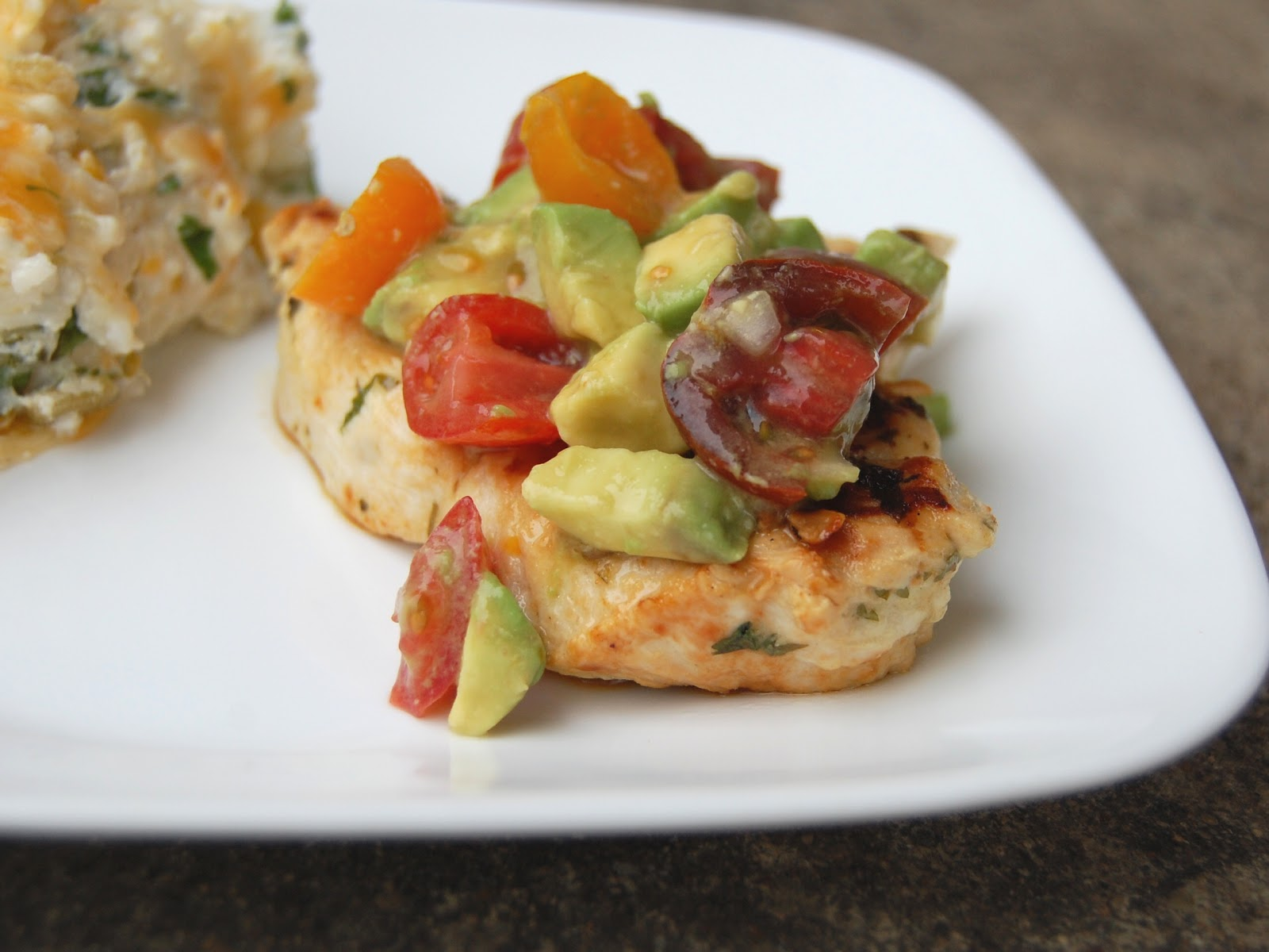 Cassie Craves: Grilled Cilantro-Lime Chicken with Avocado Salsa