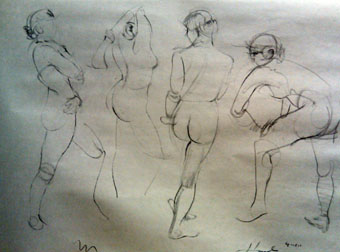 Janet Hamlin Figure sketches