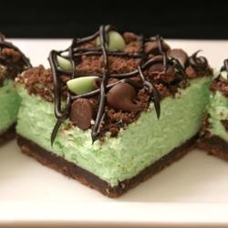 St Patrick S Chocolate Amp Mint Cheesecake Bars Cook N Is