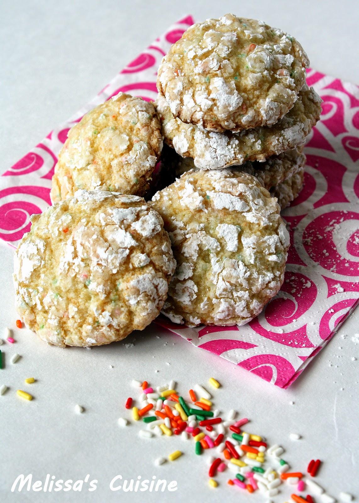 Melissa's Cuisine: Funfetti Crinkle Cookies