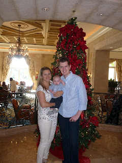Mummy, Daddy & Freddie by the tree