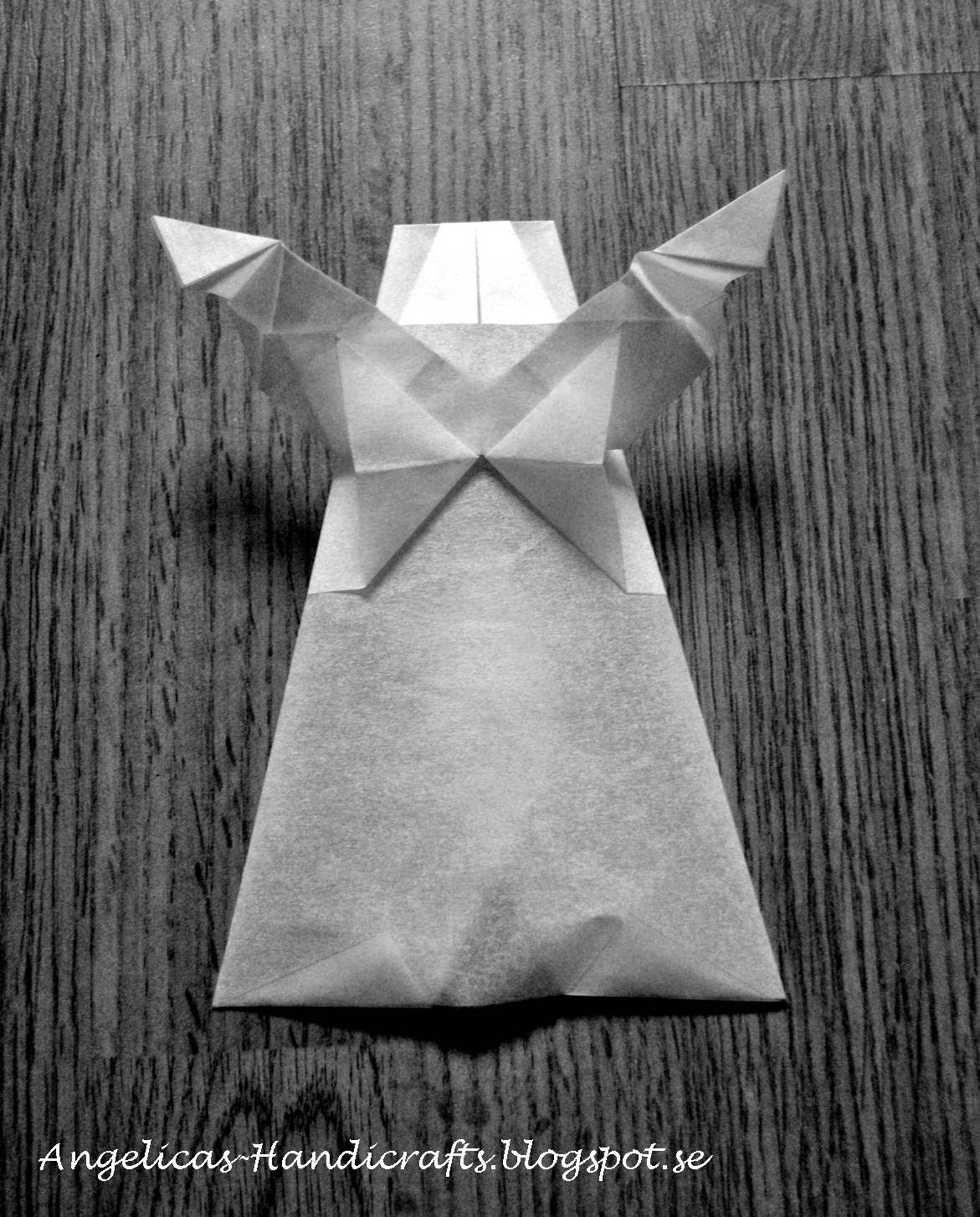 Angelicas Handicrafts Christmas Origami Moon And Angel