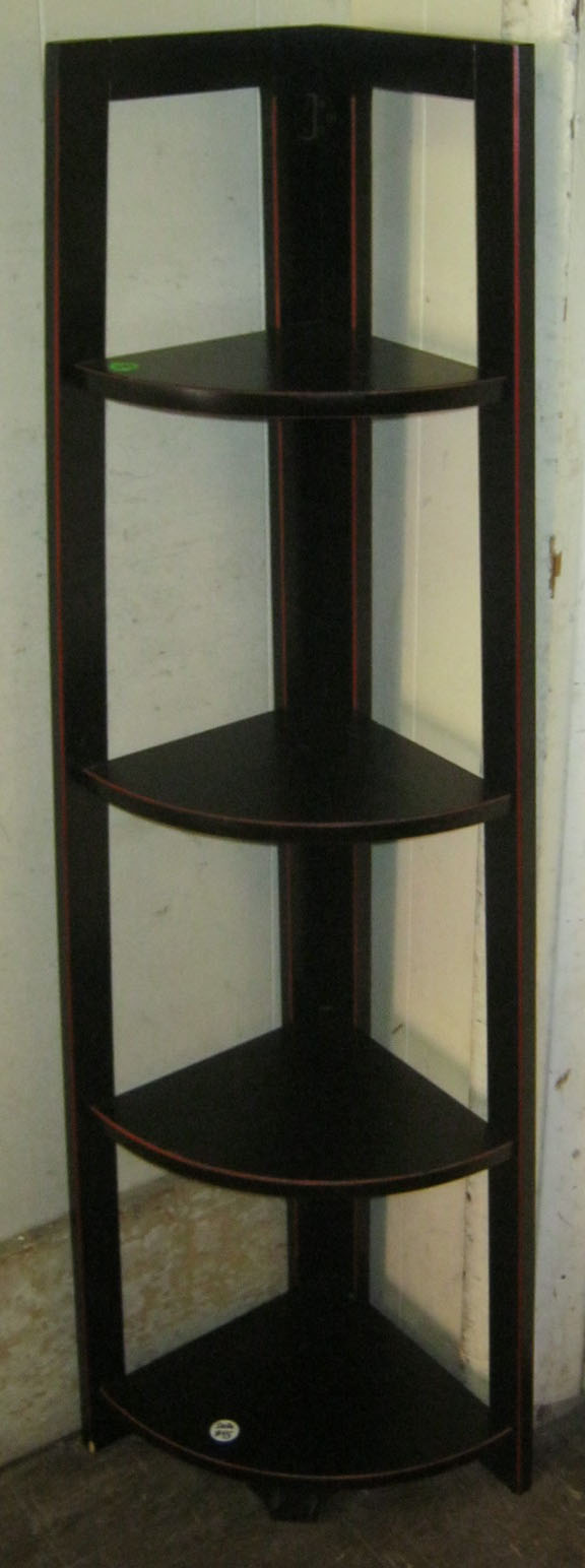 Uhuru Furniture Amp Collectibles Black Corner Shelf Sold