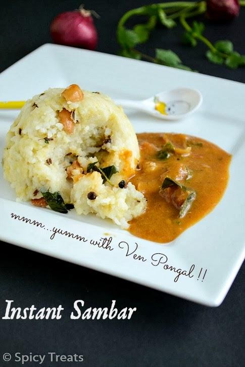 Spicy TreatsInstant Sambar / Pottukadalai Sambar / Easy Tiffin