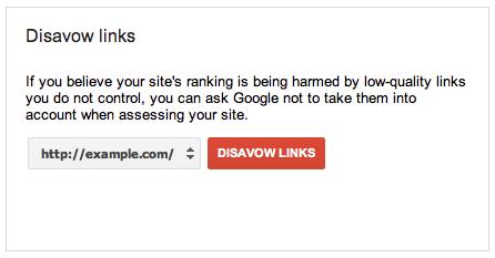 google link disavow tool