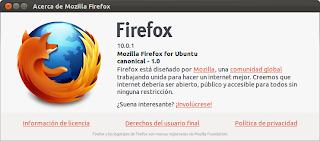 Firefox 10.0.1 en Ubuntu 11.10 Oneiric Ocelot