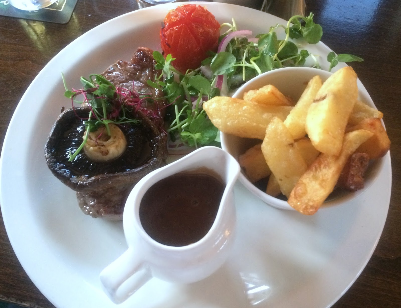 Steak and Chips from the Bay Horse in Hutton Rudby - North East Country Pub - Teesside