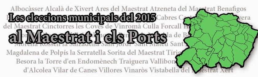 Les municipals 2015 al Maestrat i els Ports