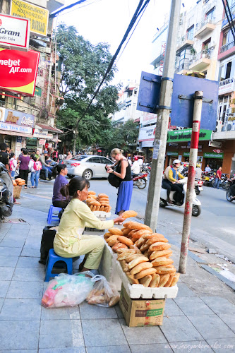 Street Bread Peddlers in Hanoi, Vietnam