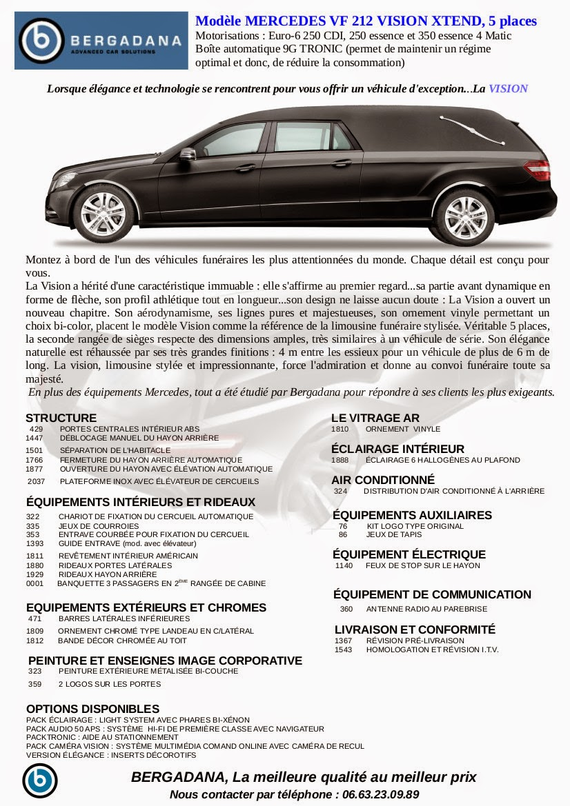 Corbillard limousine VISION