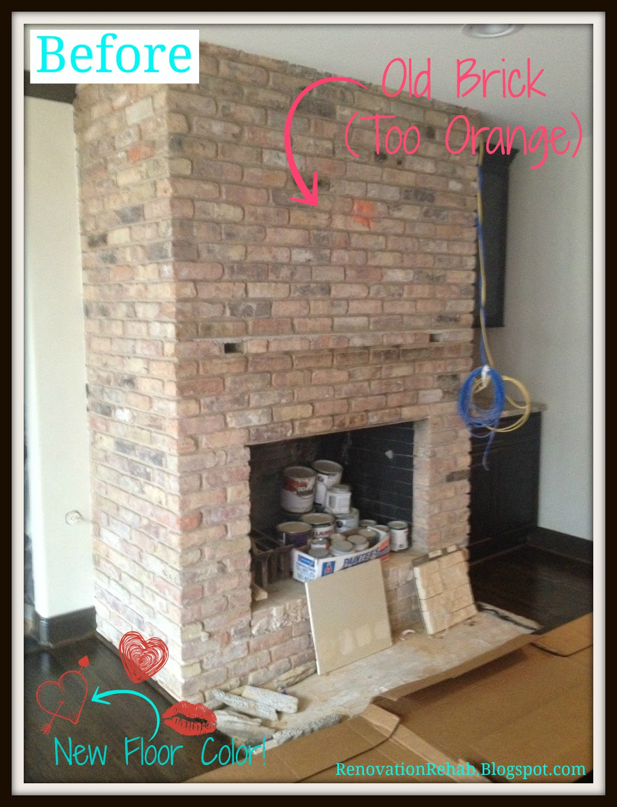 renovation rehab fireplace makeover