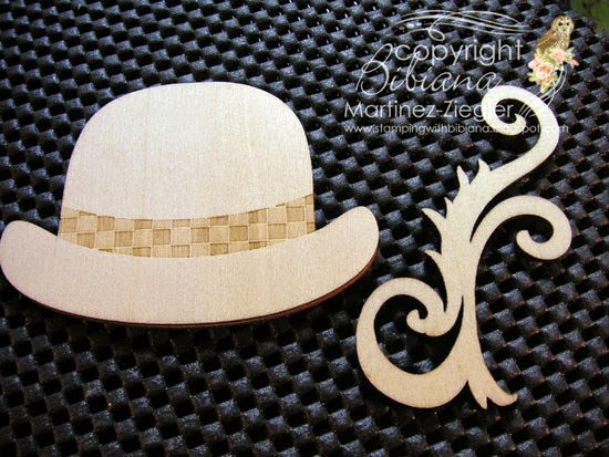 wood to paint a green hat lapel pin for St. Patrick's