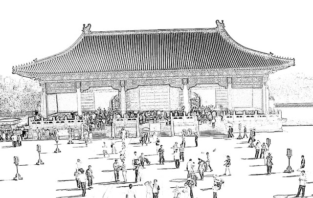 sketch of a Forbidden City structure