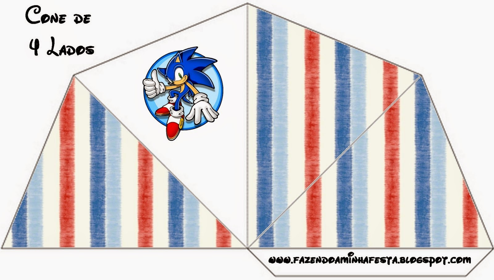 Free Printable Cones of Sonic.