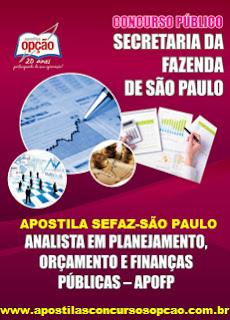 Apostila concurso Secretaria da Fazenda SP.