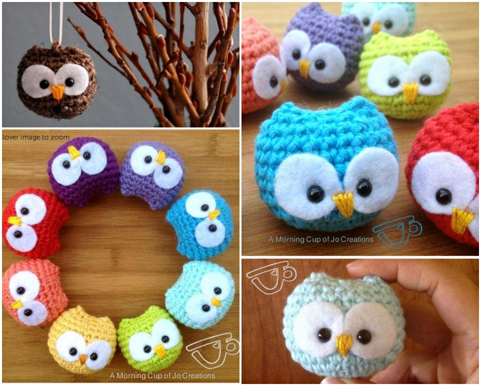 DIY Crochet Baby Owls