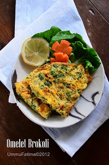 omelet brokoli