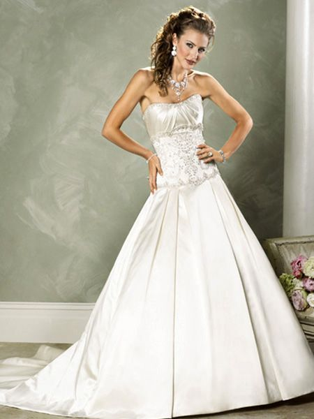 special wedding dresses: Strapless Wedding Dress -- Choice for Plump ...