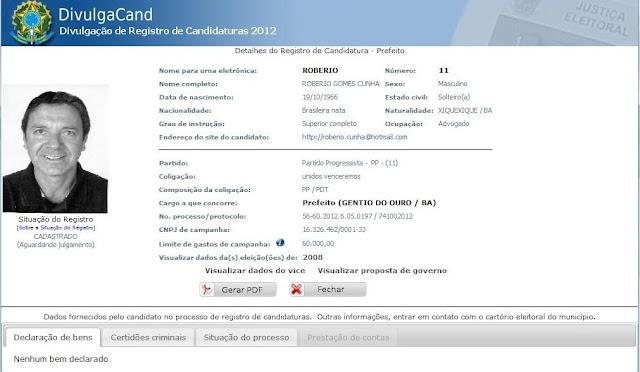 Gentio do Ouro – TSE divulga pré-lista com nomes de candidatos ao cargo de prefeito: