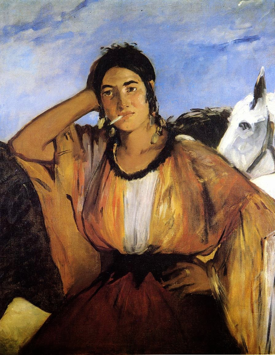Gypsy with a Cigarette by Édouard Manet.