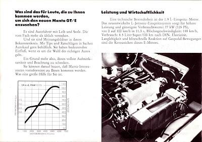 Opel Manta A series GT/E Sales Brochure Page 4