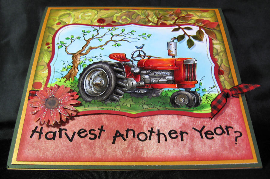 Anniebees Craft Room A Big Happy Birthday To My Brother – Tractor Birthday Cards
