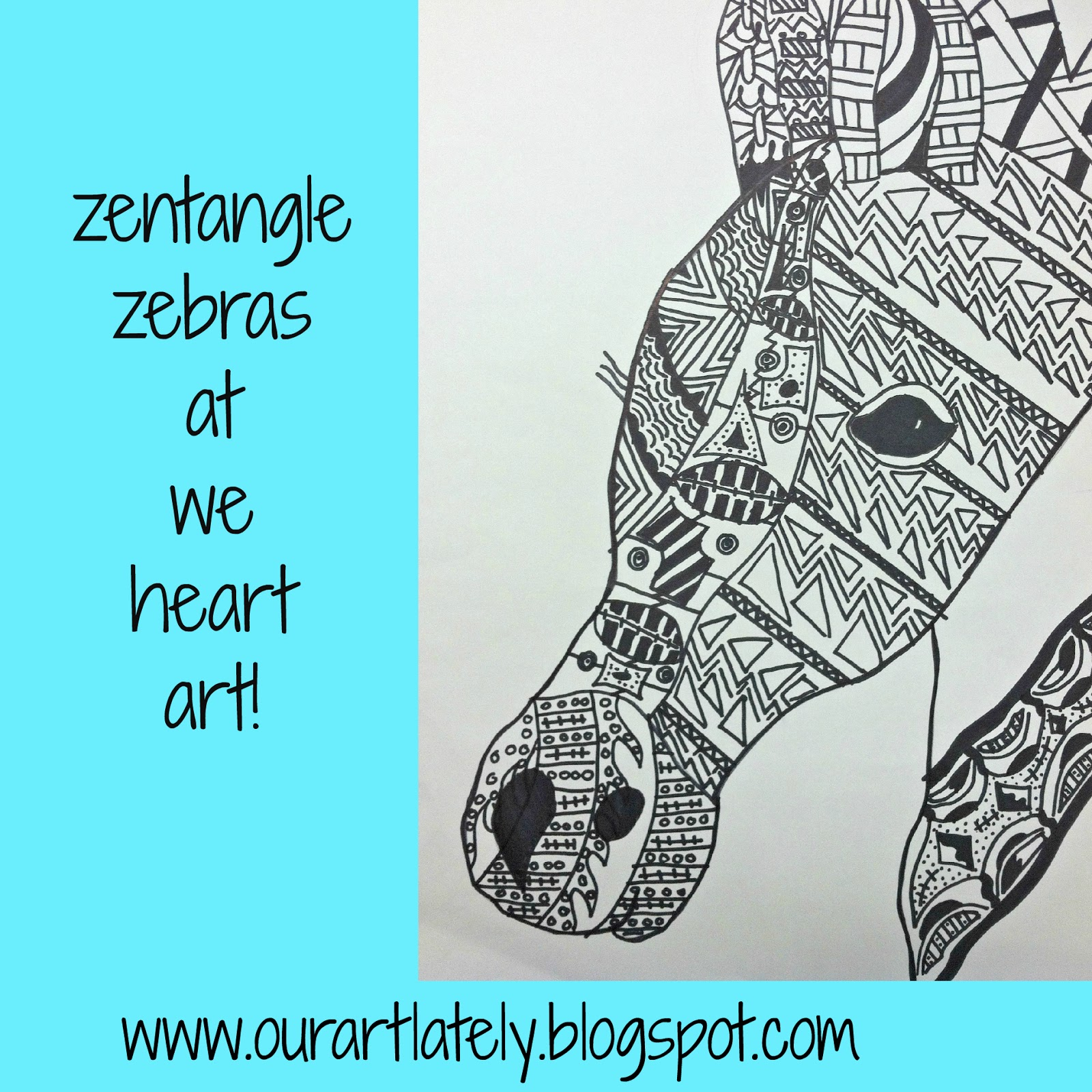 we heart art zentangled zebras