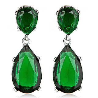 emerald drop earrings kyle richards