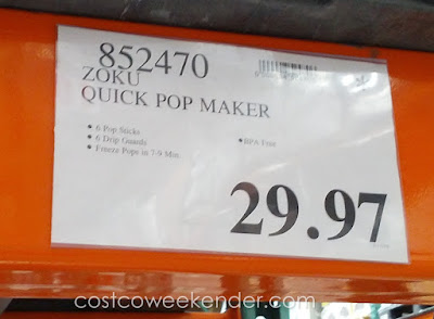 Deal for the Zoku Quick Pop Maker at Costco