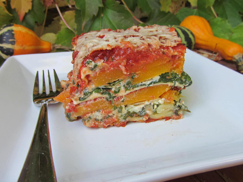 Butternut Squash Lasagna with Smoky Marinara Sauce | Once Upon a ...