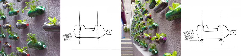 fazer jardim vertical garrafa pet:ABES-SP: 8 maneiras de fazer um jardim vertical