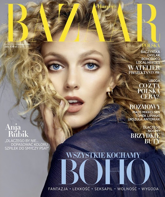 Anja Rubik beautiful sexy babe by Nico For Harpers bazaar Poland June 2015
