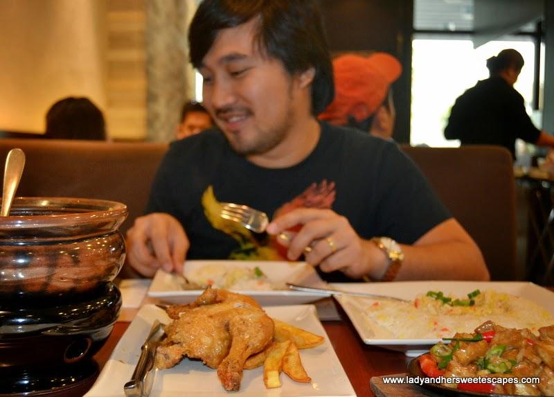 Ed in Max's restaurant in Dubai