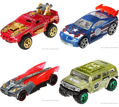 Marvel's Avengers Age of Ultron Hot Wheels Cars Series - Iron Man Hulkbuster, Captain America, Thor & Hulk