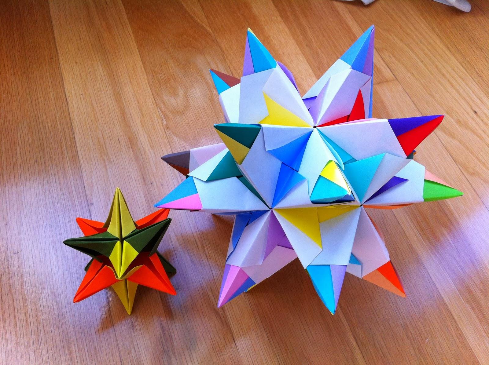 Mariposas de origami bascetta star o estrella polar - Origami de una estrella ...