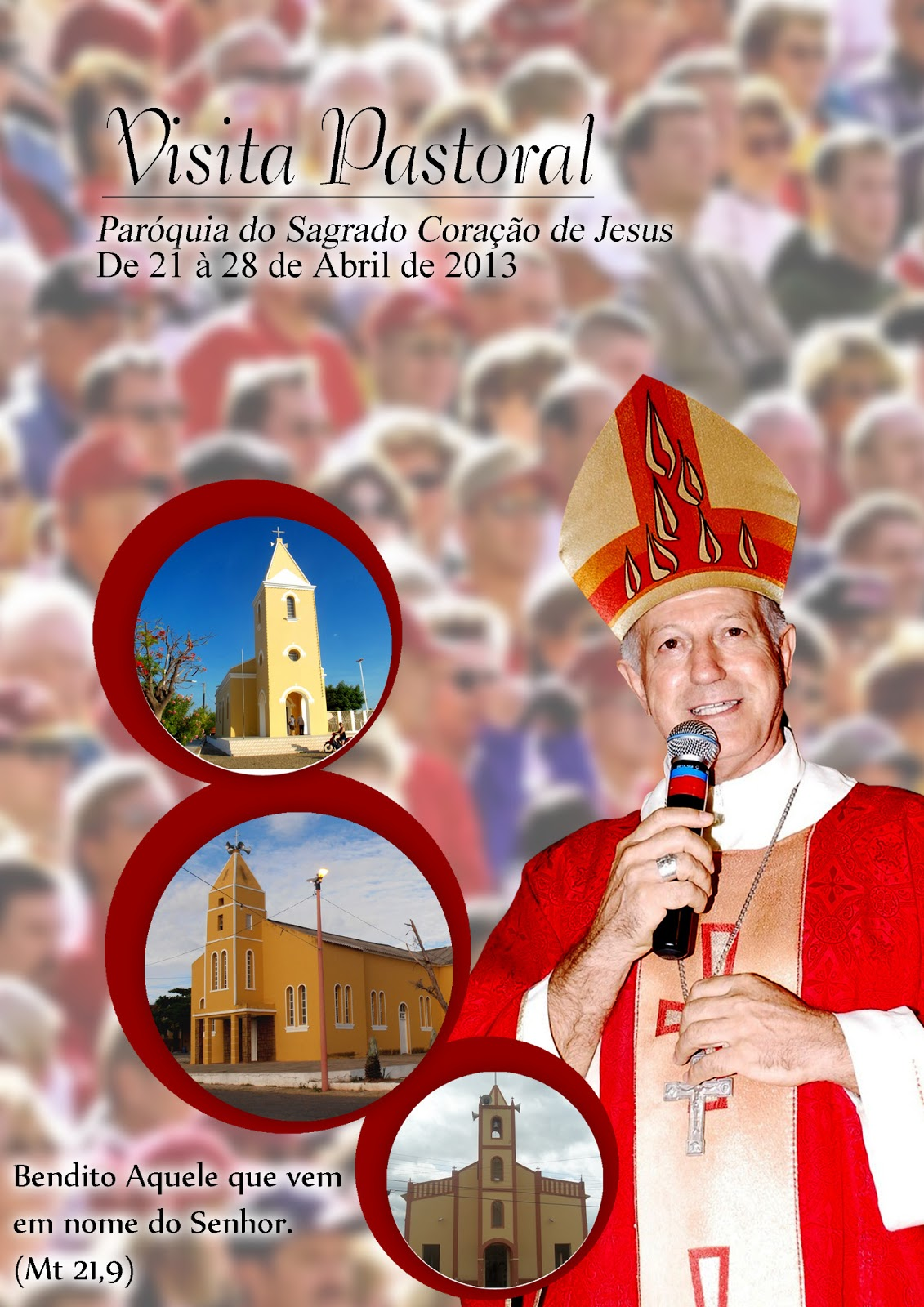 Programação completa da Visita Pastoral de 21 a 28 de Abril