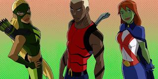 Artemis, Miss Martian (Marte)e Aqualad (Kandur)