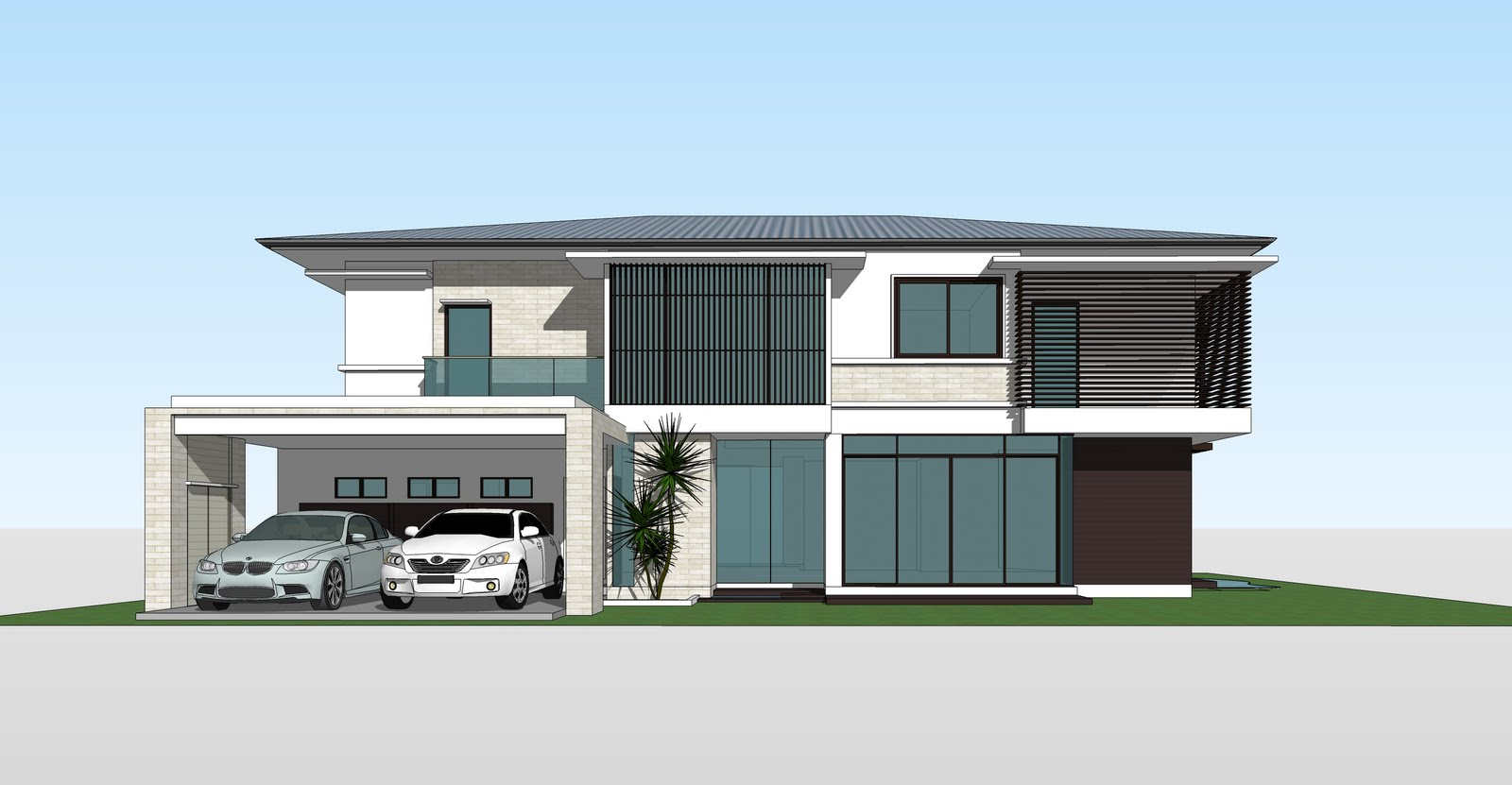 Sketchup Front Elevation : Sketchup render by artlantis cont weeralert amitpay