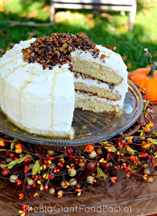 The Big Giant Food Basket: A Maple and Candied Walnut Layer Cake