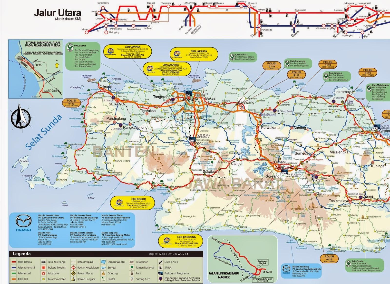 Peta Mudik Jawa Barat (Jabar)