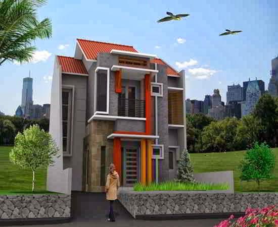 contoh desain teras rumah minimalis 2 lantai nuansa alami