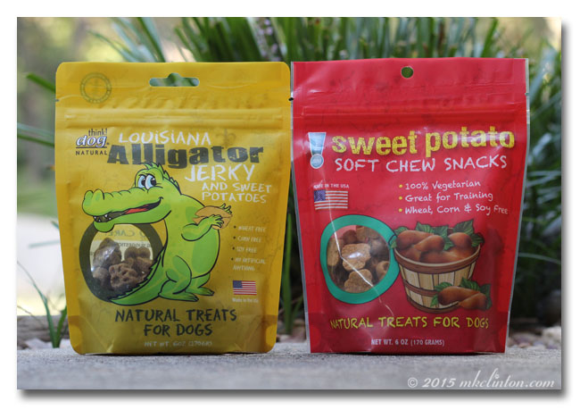 Two bags of Think!Dog Alligator treats