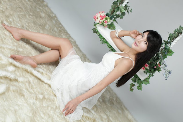 Cha Sun Hwa Lovely In White Dress