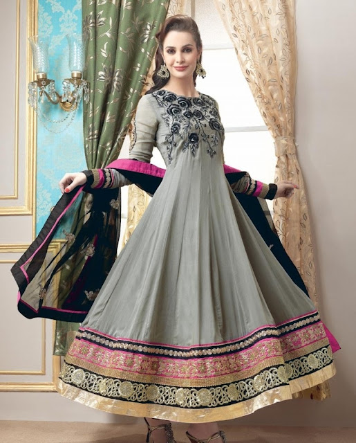 Latest Indian Anarkali Umbrella Frocks 2013